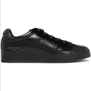 NEW! Rag & Bone RB1 Glossed Leather Sneakers